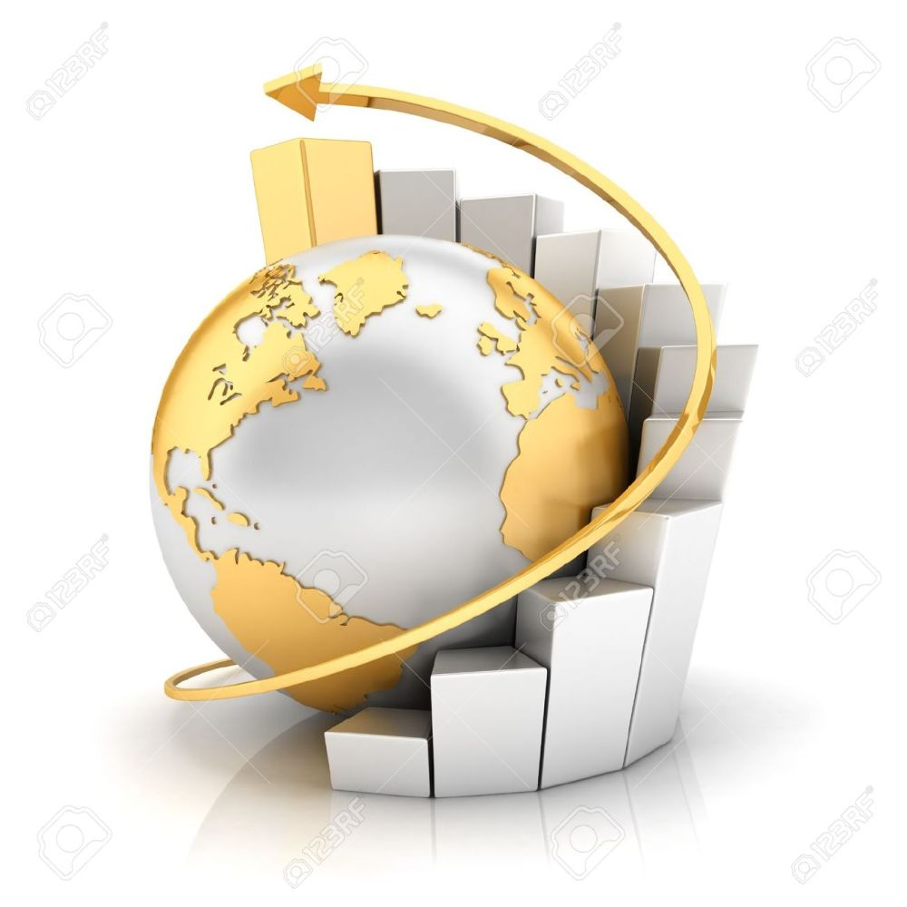 14734456-3d-business-earth-with-bar-chart-and-gold-arrow-isolated-white-background-3d-image-Stock-Photo