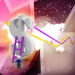28190459-3d-man-climbing-ladder-toward-financial-symbol-Stock-Photo
